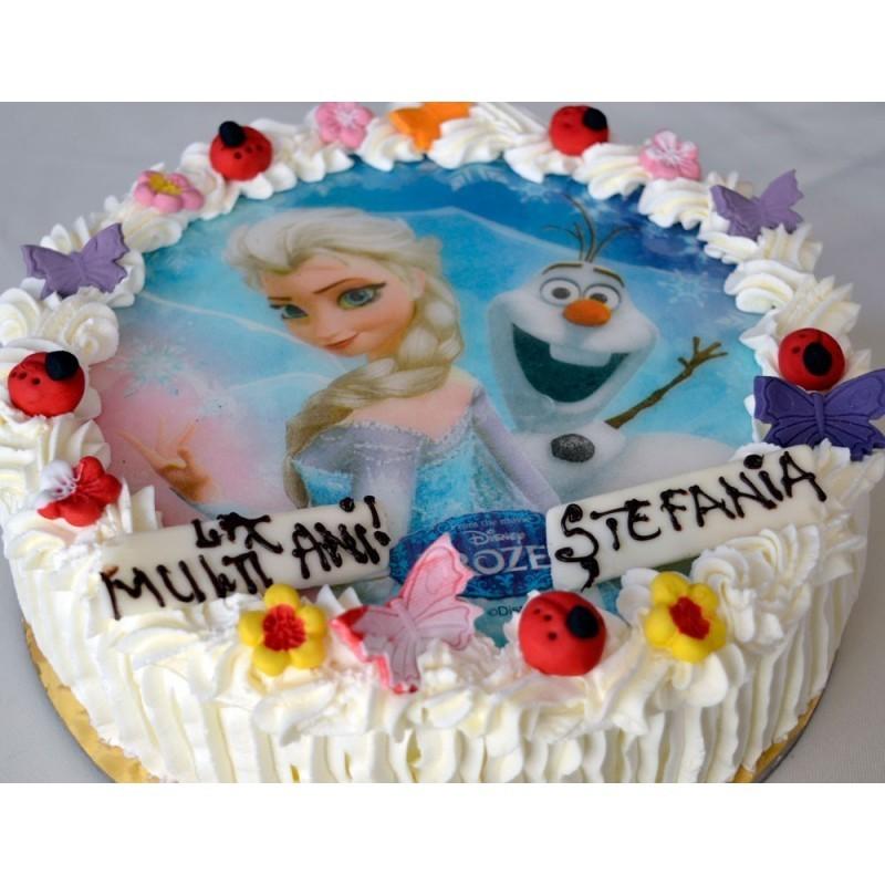 Vafa personalizata pe tort